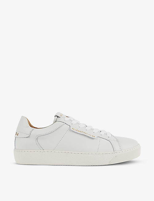 ALLSAINTS: Sheer logo-print low-top leather trainers