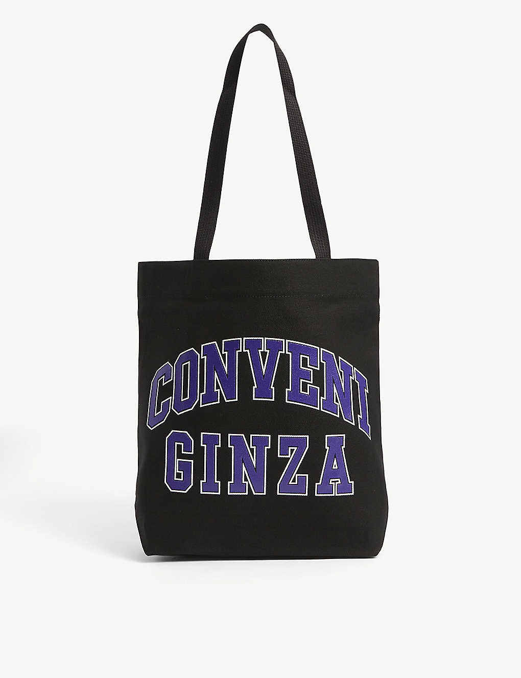 THE CONVENI: College logo-print canvas tote bag