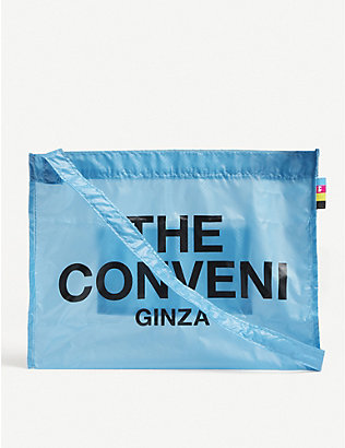 THE CONVENI: Logo-print nylon bag