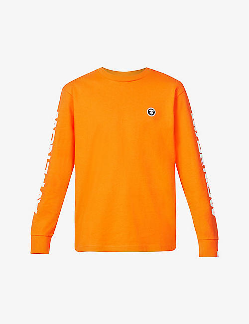 AAPE: Logo-embroidered crewneck cotton-jersey T-shirt