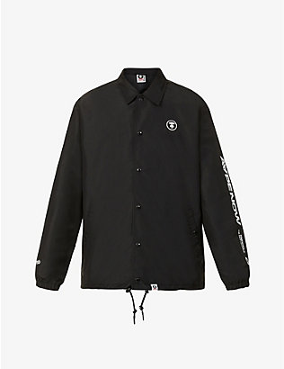 AAPE: Logo-embroidered collared shell jacket