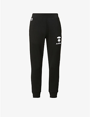 AAPE: Logo-print relaxed-fit cotton-blend jogging bottoms