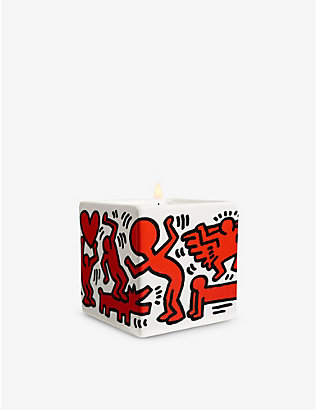 LIGNE BLANCHE: Keith Haring Red on White scented candle 260g