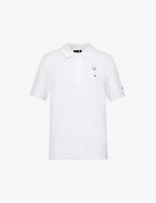 RAF SIMONS X FRED PERRY: Pinned cotton polo shirt