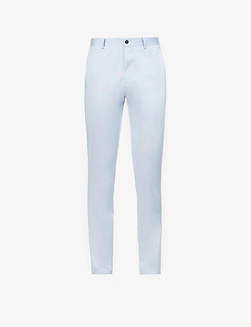 PREVU: Mid-rise stretch-cotton trousers