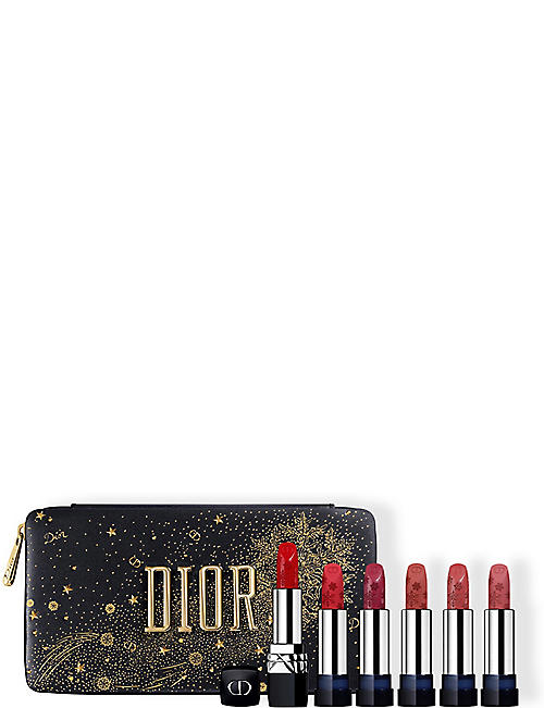 DIOR: Rouge Dior Golden Nights refillable lipstick set