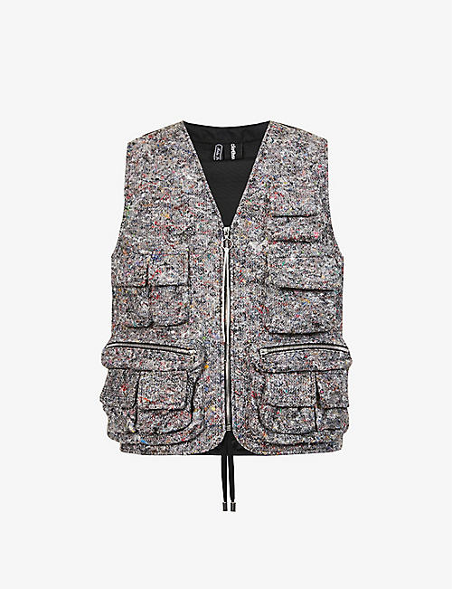 CLOTHSURGEON: Contrast-panel recycled-wool and deadstock-shell vest