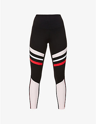 LORNA JANE: High Contrast Core high-rise stretch-jersey leggings