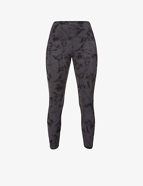 LORNA JANE: No Dig tie dye-print stretch-jersey leggings