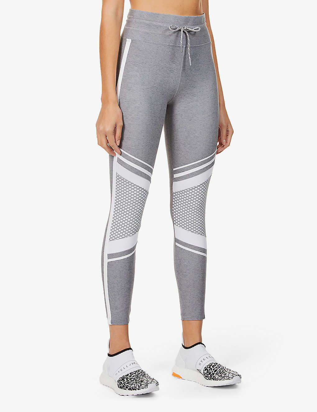 LORNA JANE: Uplift mesh-panel high-rise stretch-jersey leggings