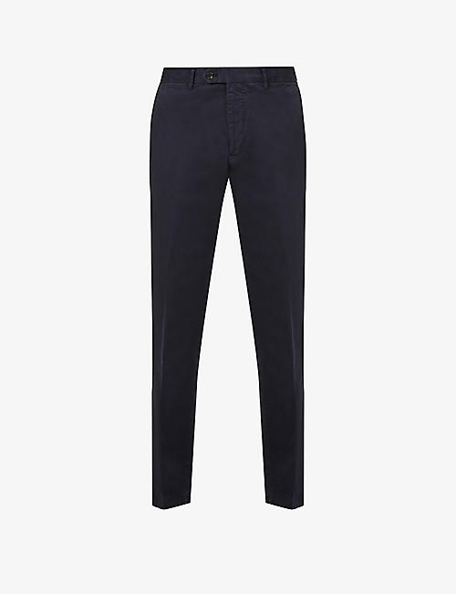 OSCAR JACOBSON: Danwick tapered cotton-stretch trousers
