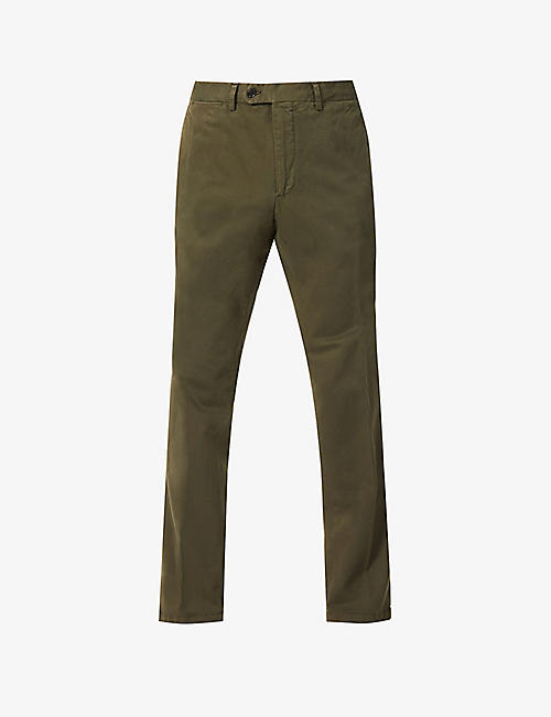 OSCAR JACOBSON: Danwick tapered stretch-cotton chinos