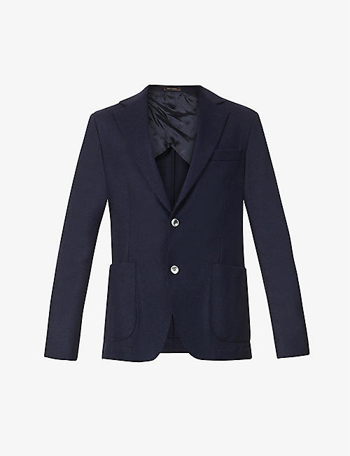 OSCAR JACOBSON: Evens herringbone wool blazer