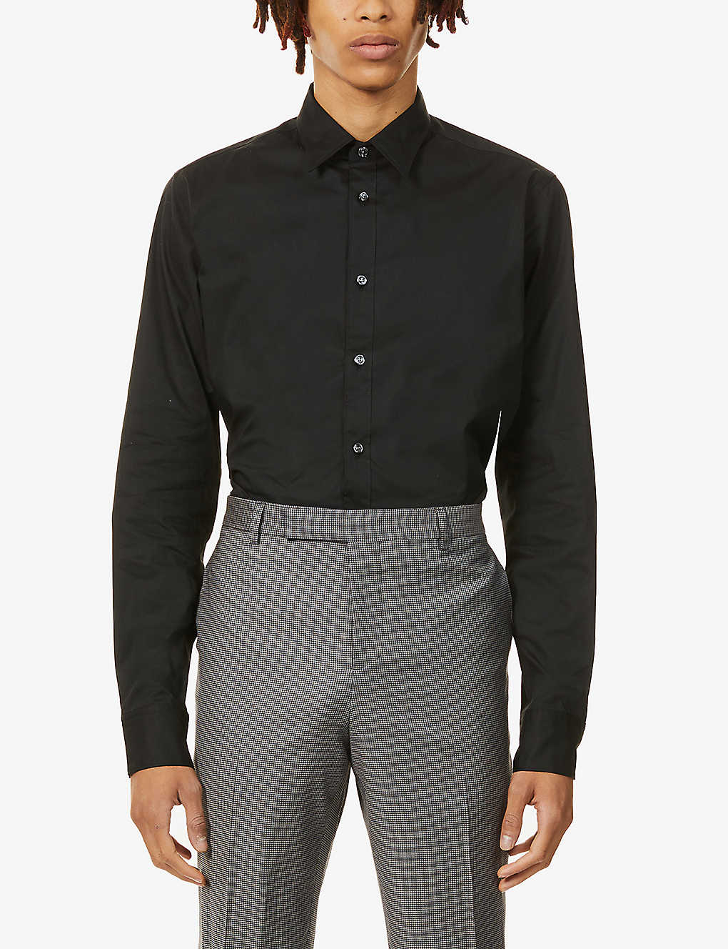 OSCAR JACOBSON: Hardy slim-fit stretch-cotton shirt