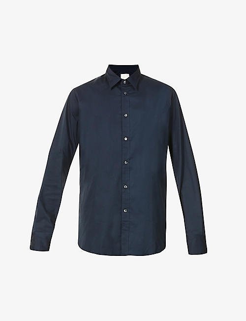 OSCAR JACOBSON: Hawk classic-fit stretch-cotton shirt