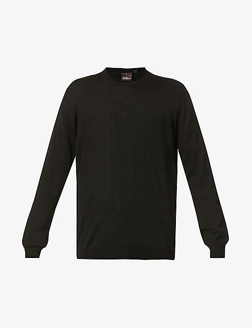 OSCAR JACOBSON: Custer crewneck wool jumper