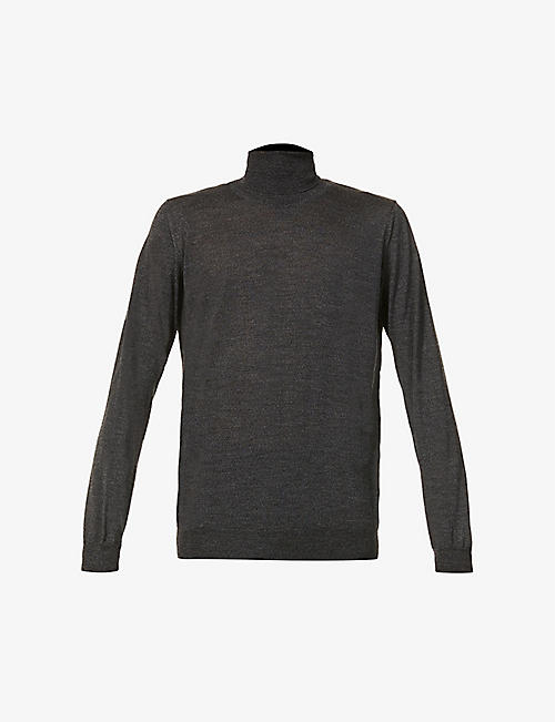 OSCAR JACOBSON: Sam roll-neck wool jumper