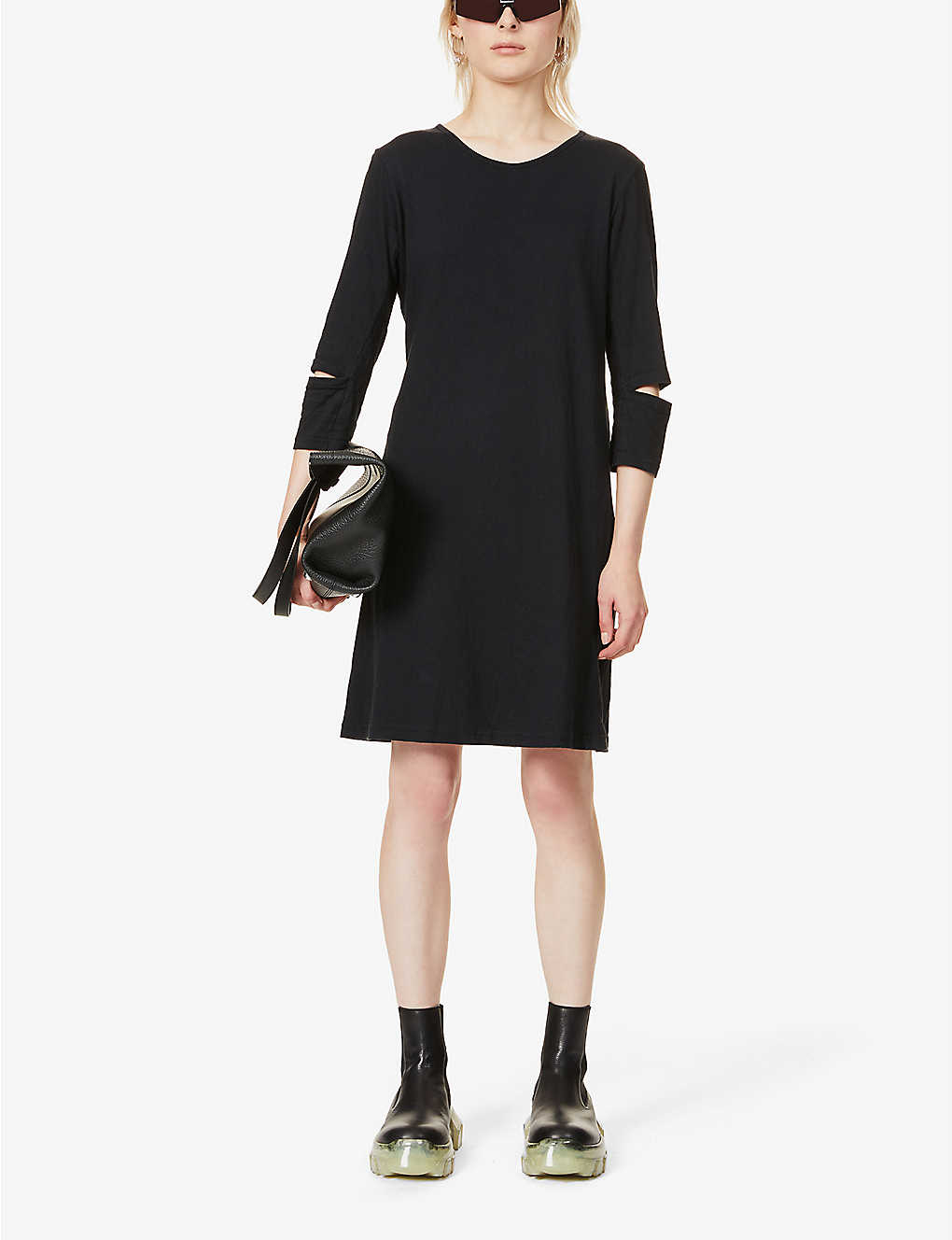 BYRONESQUE: Pre-loved BYRONESQUE x Helmut Lang cotton-jersey midi dress