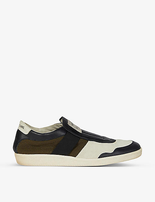 BYRONESQUE: Pre-loved BYRONESQUE x Helmut Lang 2005 leather and mesh trainers