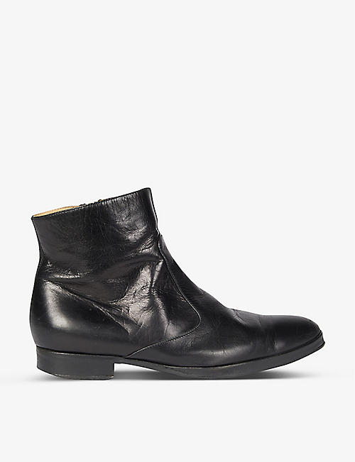 BYRONESQUE: Pre-loved BYRONESQUE x Helmut Lang 2001 leather Chelsea boots