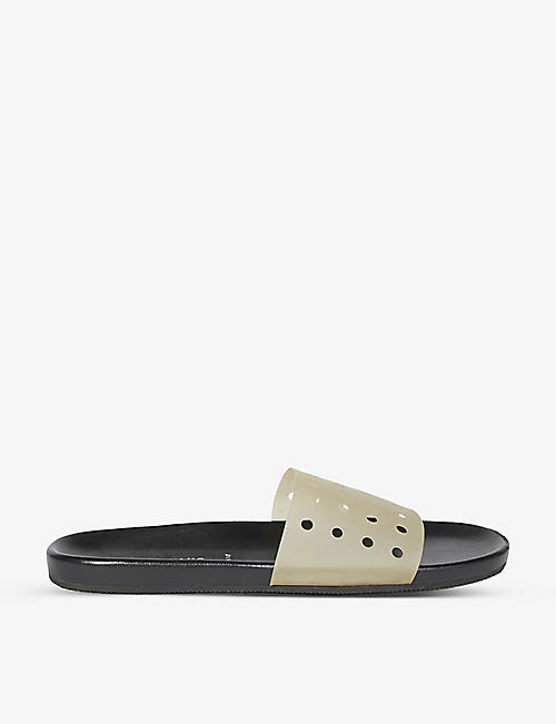 BYRONESQUE: BYRONESQUE x Helmut Lang 2003 perforated plastic slides