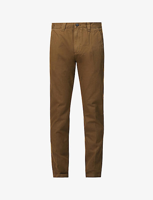 J BRAND: Kieran relaxed-fit straight cotton trousers