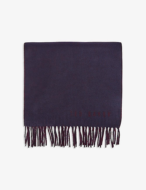 TED BAKER: Luncha fringed scarf