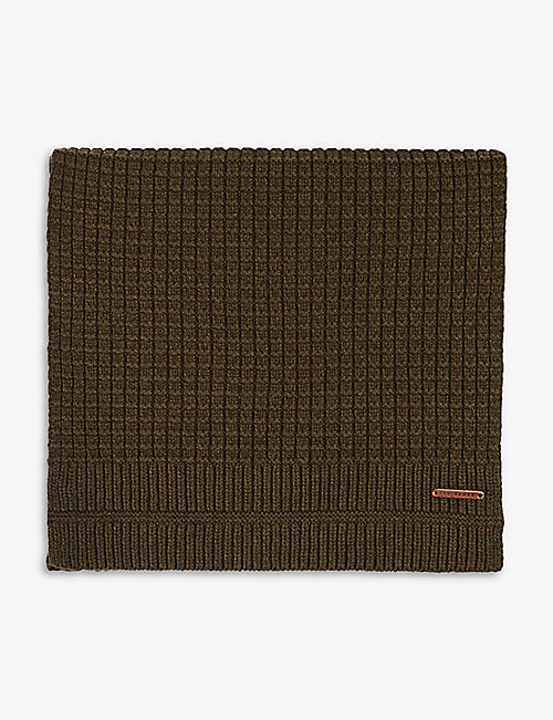 TED BAKER: Textured knit scarf