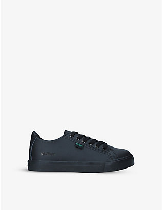 KICKERS: Tovni leather low-top trainers 7-9 years
