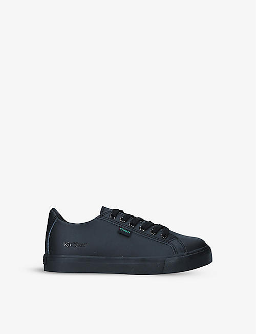 KICKERS: Tovni leather low-top trainers 7-10 years