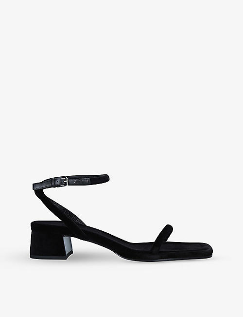 THE ROW: Kate suede heeled sandals