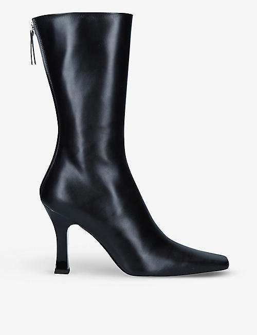 THE ROW: Office kitten-heel leather ankle boots