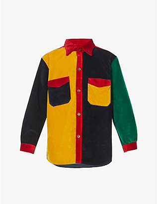 WALES BONNER: Notting Hill patchwork corduroy shirt