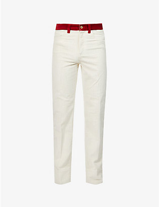 WALES BONNER: Dub slim-fit corduroy trousers