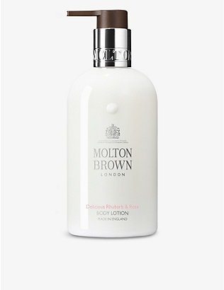 MOLTON BROWN: Delicious Rhubarb & Rose body lotion 300ml