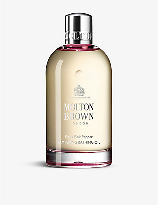 MOLTON BROWN: Fiery Pink Pepper Pampering bathing oil 200ml