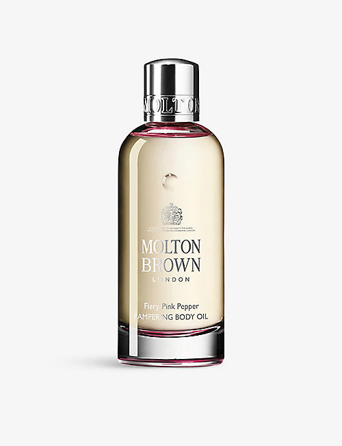 MOLTON BROWN: Fiery Pink Pepper Pampering body oil 200ml