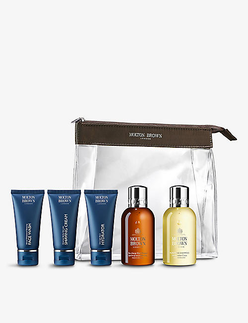 MOLTON BROWN: The Well-Groomed Wayfarer Carry-on Bag travel set