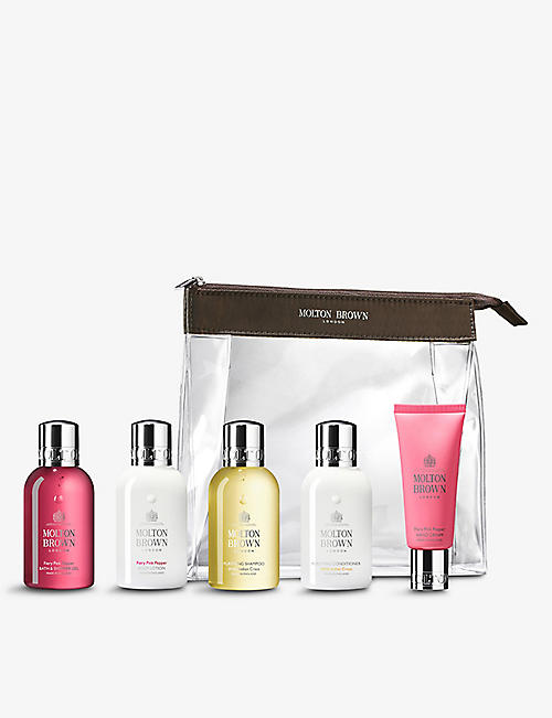 MOLTON BROWN: The Enticing Wanderer Carry-on Bag travel set