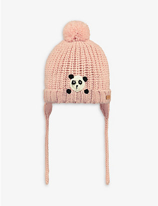 BARTS AL: Dayle panda-appliqué knitted beanie hat 1-3 years