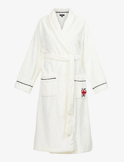 DKNY: Logo-detail dressing gown