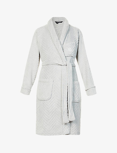LAUREN RALPH LAUREN: Chevron fleece robe