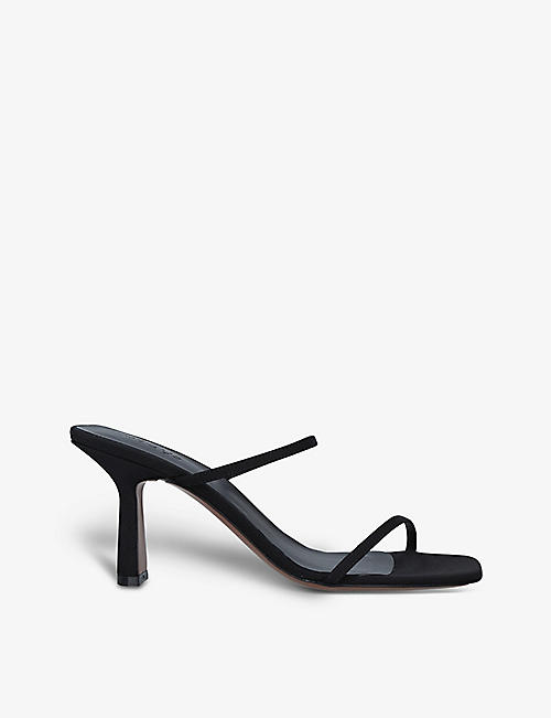 NEOUS: Osepalum square-toe leather heeled mules