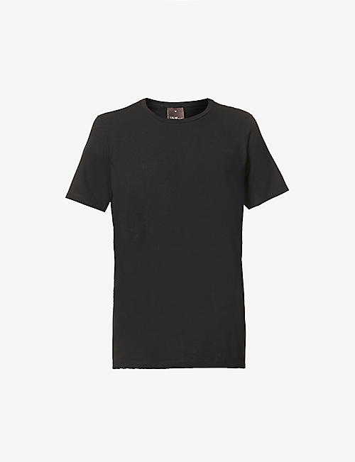 OSCAR JACOBSON: Kyran crewneck stretch-cotton T-shirt