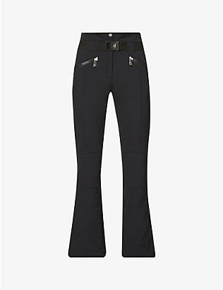 TONI SAILER: Anais flared high-rise sports-jersey trousers