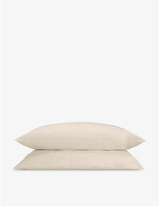 RISE AND FALL: Crisp & Cool organic-cotton Oxford pillowcases 52cm x 77cm