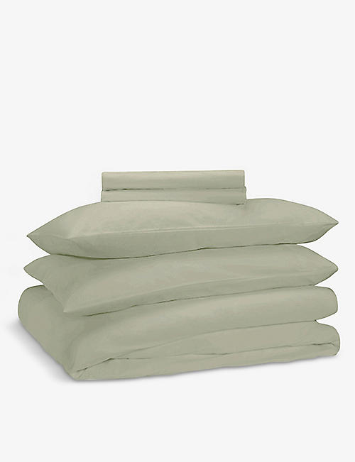 RISE AND FALL: Crisp & Cool organic-cotton duvet set