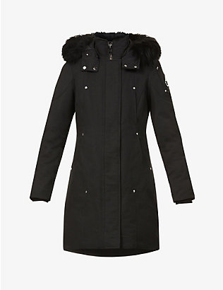 MOOSE KNUCKLES: Stirling padded cotton-blend coat