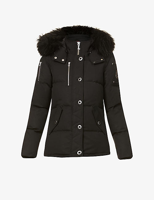 MOOSE KNUCKLES: 3Q cotton-blend down puffer jacket