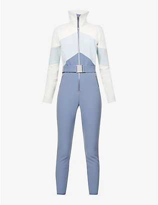CORDOVA: Alta belted colour-block shell ski suit